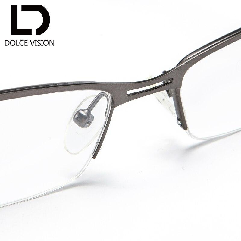 Qualität Business Klare Halb Rezept Dolce Vision Col002 Männer Gläser Klassische Absolvierte Korrektur Männlichen Neue Hohe Linse Rahmen PH6xH0q