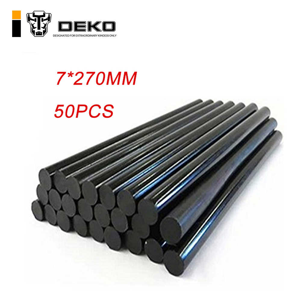 DEKO 50pcs Diameter 7mm Black high viscosity Hot Melt Glue Stick Professional Length 270mm  DIY Glue Gun Sticks Paste Tools