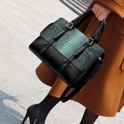 New ladies Vintage Leather Handbags Big Women Tote Bags Female Designer High Quality Office Ladies Shoulder