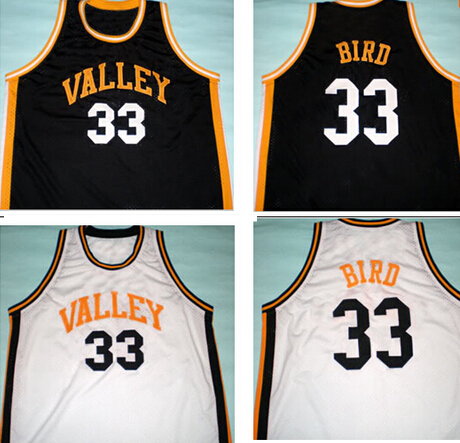 quality design 2e09a 4748e 33 Larry bird valley high school jersey new white ,Black ...