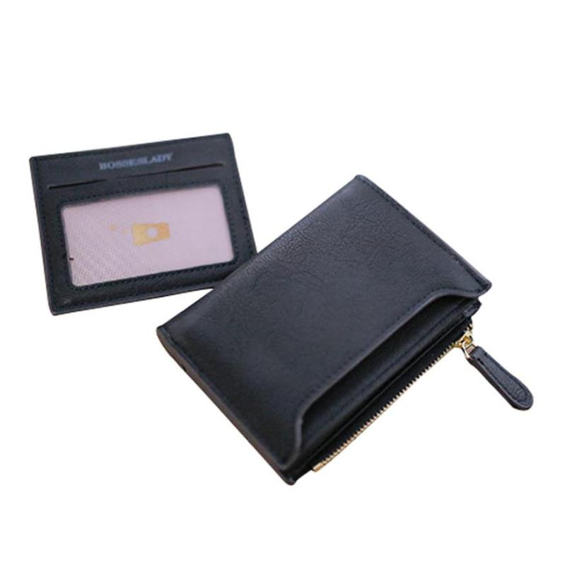 Drop Shopping Leather Coin Purses Women Wallet Small Printing Letter Female Purse Zipper Coin wallet Sandwich Coin Purse-10