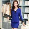 New Fashion Ladies Business Suits Office Elegant Career Set Work Wear Skirt Jacket Collar Staff Uniform Designs