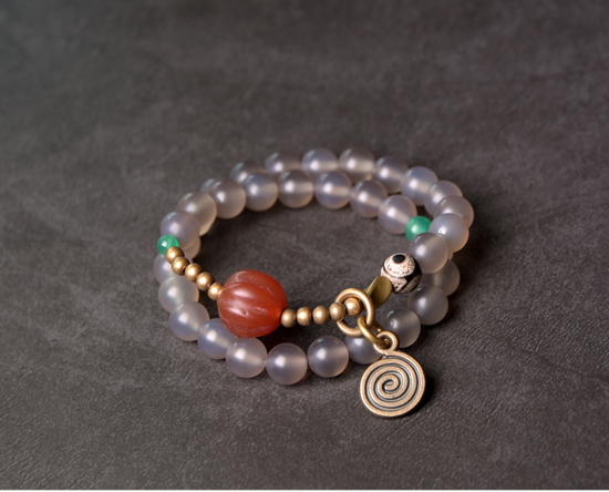 Red-Pumpkin-Agate-Mixed-Buddha-Eyes-Bead-bracelet-Tibetan-Buddhism-Zen-Healing-brass-beads-White-Grey-Agate-Friendship-Jewelry (6)