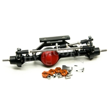 Full Alloy Front Axle Red For 1 10 Scale RC Crawler D90 AXIAL SCX10 RC4WD