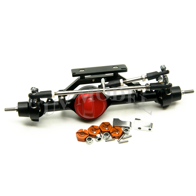 Full Alloy Front Axle Red For 1 10 Scale font b RC b font Crawler D90
