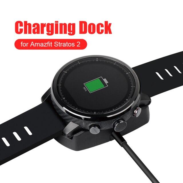 SIKAI stacja ładująca zegarek podstawka ładująca kabel USB dla Huami Amazfit Stratos 2 ładowarka do AMAZFIT Stratos 2 etui na zegarek