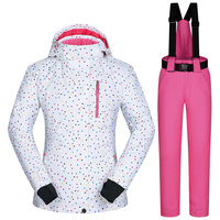 Ski Suit Brands Women Winter Outdoor Windproof Waterproof Mountain BDD Ski Jacket And Pants Snow Sets Skiing And Snowboard suits
