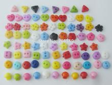NBNOWK Mini size handmade craft buttons mix 1000pcs plastic button multicolors DIY scrapbooking decoration