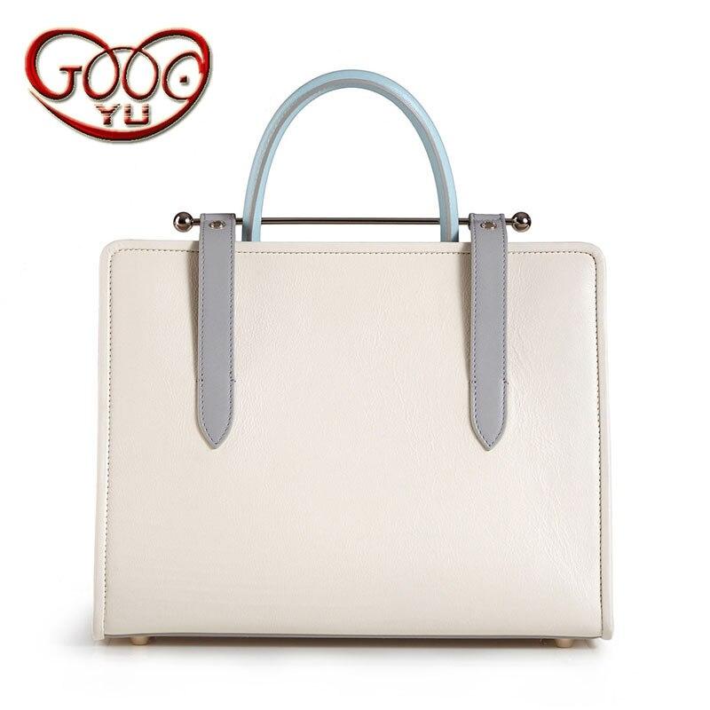 Korean version of the style cross-section handbag metal rod handbag fashion wild hit color leather bag shoulder bag diagonal cro