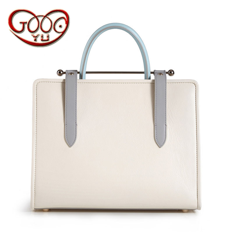 Korean version of the style cross-section handbag metal rod handbag fashion wild hit color leather bag shoulder bag diagonal cro new 2016 men s shoulder bag man bag portable diagonal cross section korean version of casual travel bag crazy horse