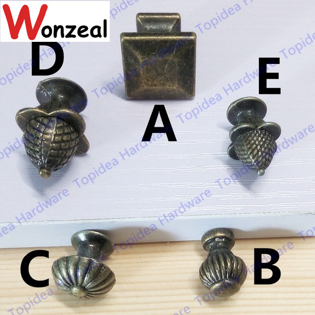 Antique Bronze Zinc Alloy Kitchen Cabinet Knobs and Drawer Dresser Pulls Cupboard Wardrobe Door Handles