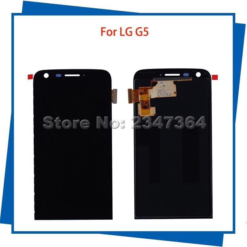 Para lg g5 h840 h850 pantalla lcd táctil digitalizador asamblea color negro telé