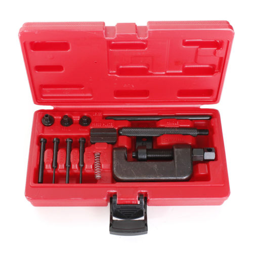 THGS Motorcycle Chain Splitter Breaker Motorbike Riveting Tool Heavy Duty Link O-ring new universal steel chain cutting breaker and riveting tool kit for motocycle automotive repait tools