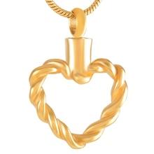 Wire Heart Urn Necklace
