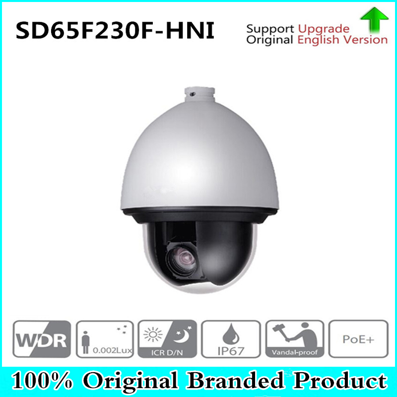 Original DH English Starlight Network PTZ Dome Camera IP67 support Auto tracking PTZ and IVS SD65F230F-HNI,free DHL shipping