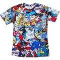 2016 nova engraçado camisetas mulheres / homens 90 s kid desenhos animados colagem / Pokemon impressão 3d t shirt Casual t-shirt tops plus size frete grátis