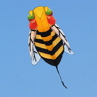 Free Shipping New Arrive Power Software 3m Animal Bee Kite Flying Outdoor Fun Sports