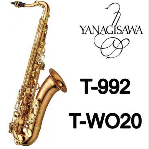 Nouvelle Marque YANAGISAWA T-WO20 T-992 Ténor Saxophone Laque D'or Sax Professionnel Embouchure Patches Tapis Roseaux Bend Cou