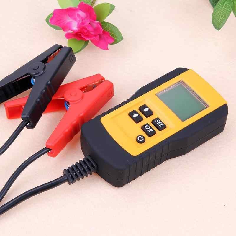 Samochodów tester baterii pojazd samochodowy LCD cyfrowy Test baterii analizator Auto System analizator napięcia CCA Test narzędzie diagnostyczne