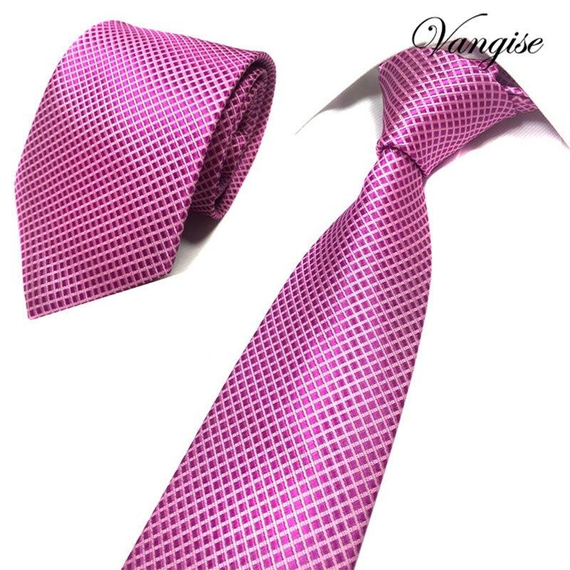 Jacquard Stripe Solid Blue Pink Skinny Ties For Men Wedding Tie Men Luxury Tie Designers Fashion Kravat Neckwear Necktie