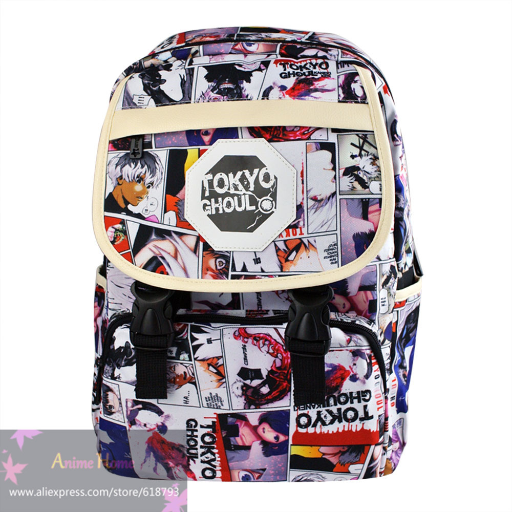 Hot Anime backpack student cartoon tokyo ghouls school bags daily travel backpacks gift for children AB602