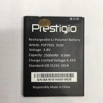 MATCHEA nuevo para psp7501 duo bBattery 100% nuevo 2500mAh batería de repuesto para Prestigio PSP7501 duo teléfono inteligente