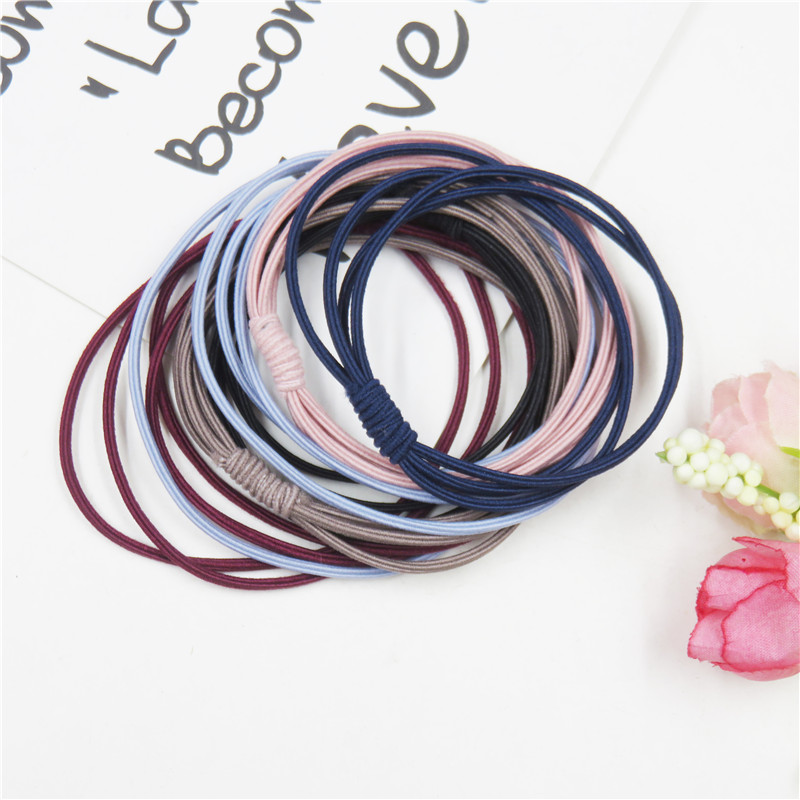 1PCS Simple Tie A Knot Elastic Hair Bands For Girls Bohemian Headband Scrunchy Korean Bow Kids Hair Accessories For Women NEW