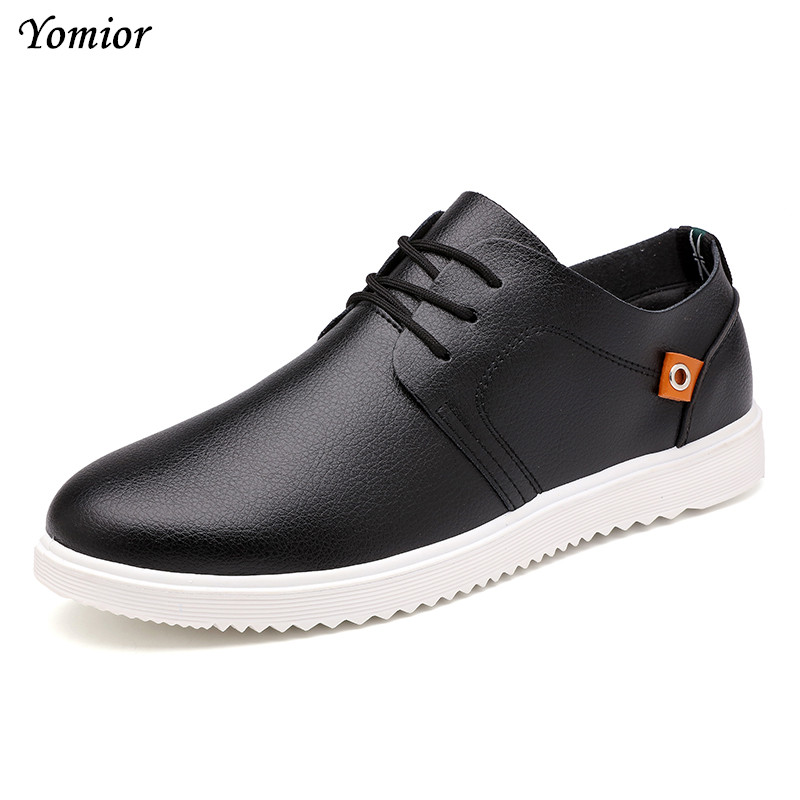 Yomior New 2017 Mens Shoes Flats Handmade England Trend Loafers Fashion Designer Lace up Casual Student