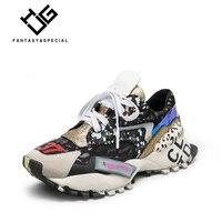 Стеклопакет женская обувь, кроссовки из натуральной кожи женские обувь на платформе Туфли без каблуков в стиле Харадзюку; обувь в стиле «па