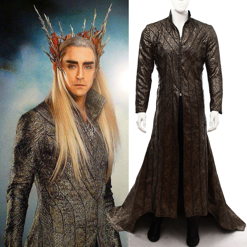 custom made halloween costumes for adult the Lord of the rings The hobbit Lee Pace Thranduil Cosplay costume Thranduil dress