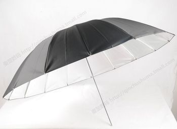 16 - rib 43 - inch fiber rib silver reflective umbrella supports dense rib flexibility CD50 фото