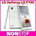 Оригинальный L9 LG Optimus L9 P760 разблокировать Android телефон двухъядерный 1 ГГц процессор 1 ОЗУ 4ROM 4.7 дюймов сенсорный экран 5.0MP