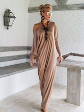 Robo Pull  Vestidos Largos De Verano Casual Women Long Dresses Summer Elegant Sleeve One Shoulder Feminina New Vogue Maxi