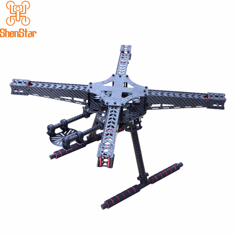 US $50 6 8% OFF|Carbon Fiber 450 450mm Quadcopter Frame Kit RC FPV Racing  Drone Landing Gear Skid Set DIY 4 axis Aircraft Accessories-in Airframes