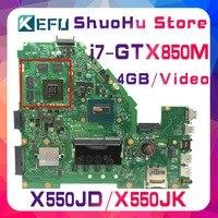 KEFU FX50J ل ASUS X550JD X550JK FX50J A550J X550J W50J X550JX K550J I7 اللوحة المحمول اختبارها 100% العمل اللوحة الأصلية