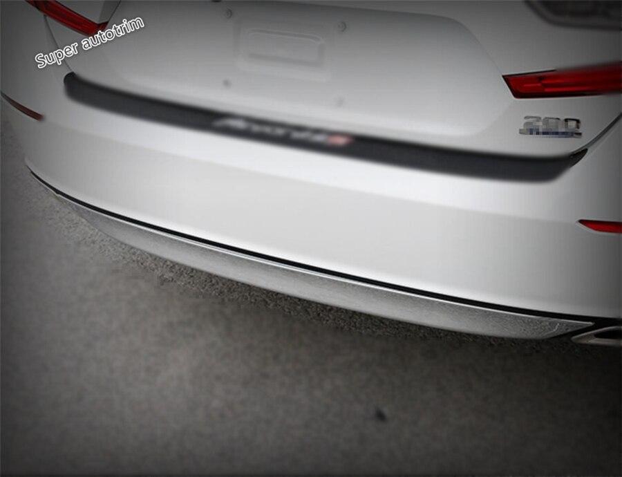 Lapetus задняя Кнопка Бампер Подоконник Защитная крышка подходит для Honda Accord 10th 2018 2019 2020 Хром ABS аксессуары для экстерьера