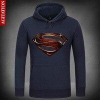 Man Of Steel Film Superman Symbolize Hoody Coat Pullover Hoodies Sweatshirt DC Comics Sport Sweatshirts Outerwear