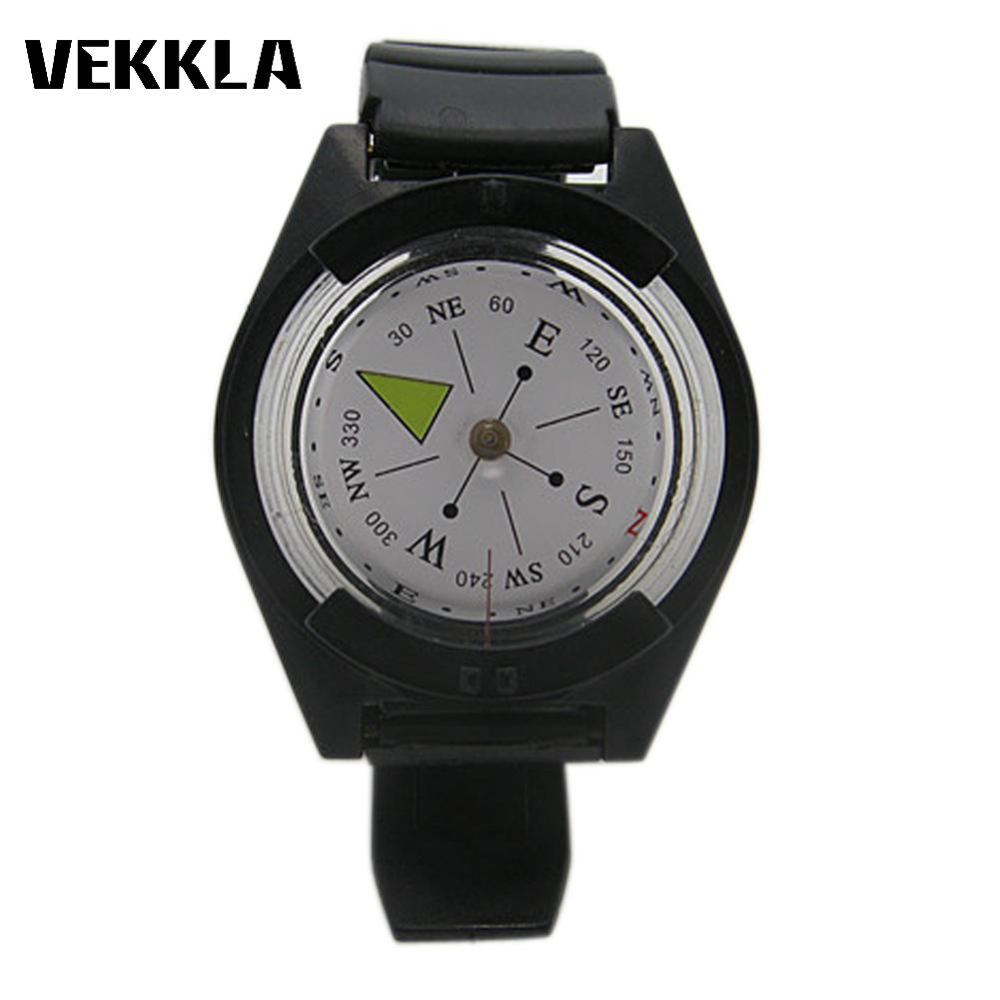 VEKKLA Portable Military Tactical Wrist Compass Waterproof Digital Survival Watch Strap Band Outdoor Hiking Camping Travel