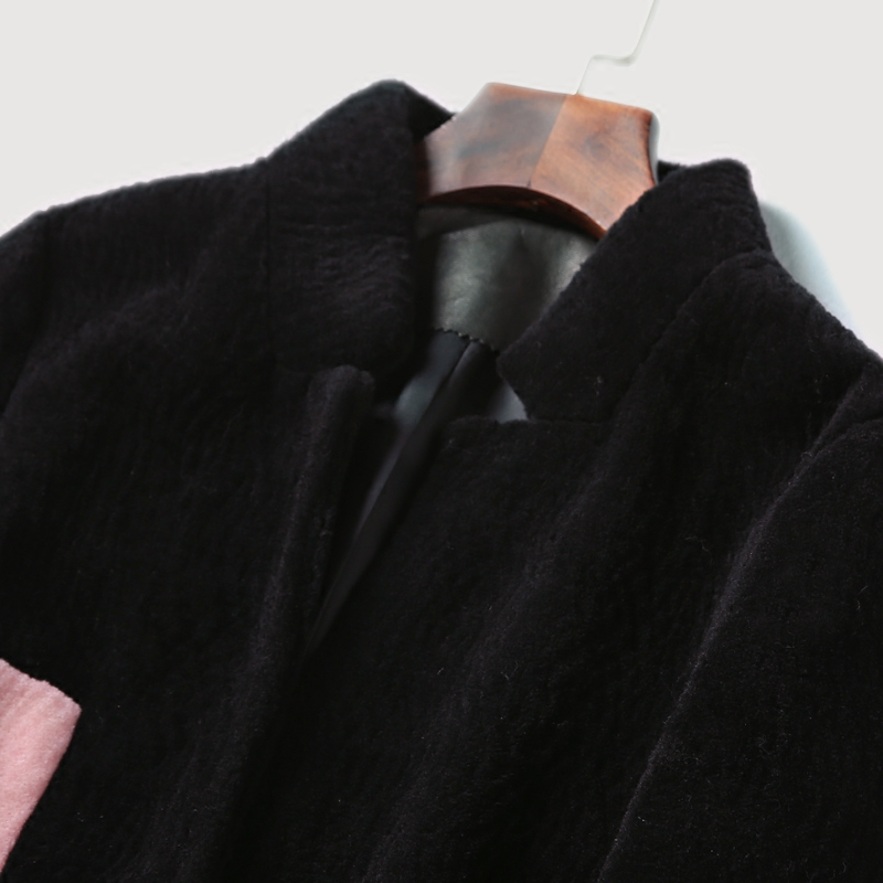 La Fourrure Manteaux Peau Veste Vestes D'hiver De Femme Des Manteau Rouge Vraie Femmes En noir Mouton qpgvFv