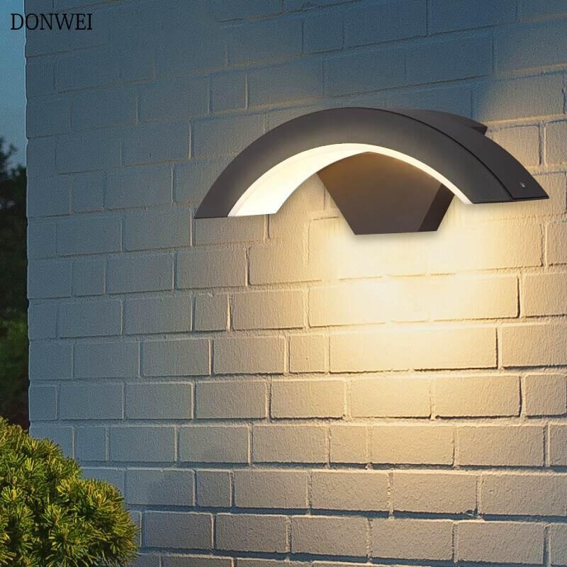 15w pir motion sensor outdoor wall light porch light modern waterproof courtyard garden aisle corridor balcony led wall lamp