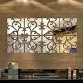 1 Conjunto de Espelho 3D Adesivos de Parede Ano Novo Home Decor Mural Acrílico GRANDE Superfície do Espelho Adesivos de Parede Ano Novo Decoração 23x100 cm