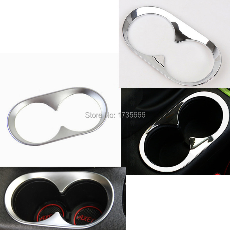 Chrome / Silvery Cup Drink Holder Surround Trim Center Console Panel Cover Fit For Mazda CX-5 CX5 2013-2015 for mazda cx 5 cx5 2nd gen 2017 2018 interior custom car styling waterproof full set trunk cargo liner mats tray protector