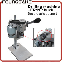 Mini Drilling Machine Bench Machine Table Bit Drilling Chuck 1 7mm ER11 3 175mm Free For