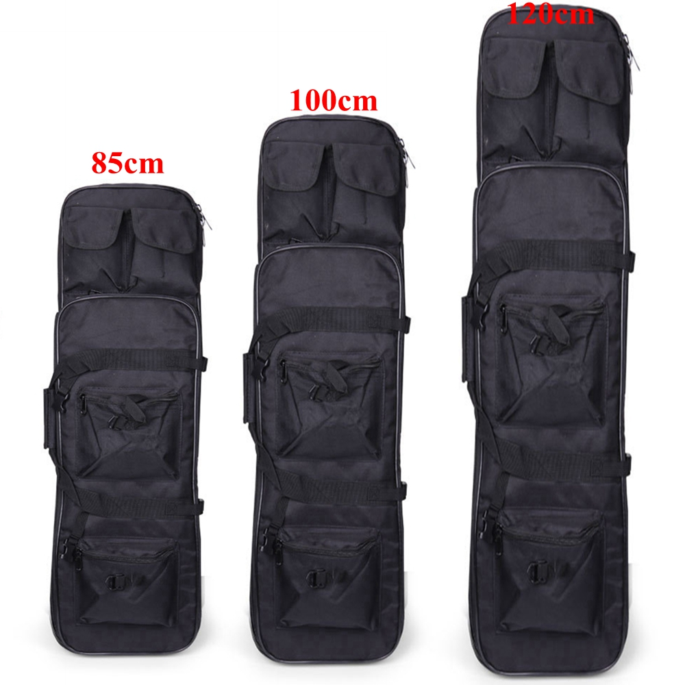 Tactical Hunting Rifle Case 85cm 100cm 120cm Military Outdoor Nylon Bag Double Carbine Gun Case Backpack Shooting Air Rifle Bags(China)