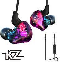 Original KZ ZST 1DD 1BA Hybrid In Ear Earphone Balanced Armature HIFI DJ Monito Running Sport
