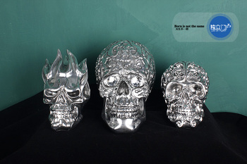 personality resin Punk Skull statue home decoration accessories craft room decoration objects bar Flame skull sculpture ornament