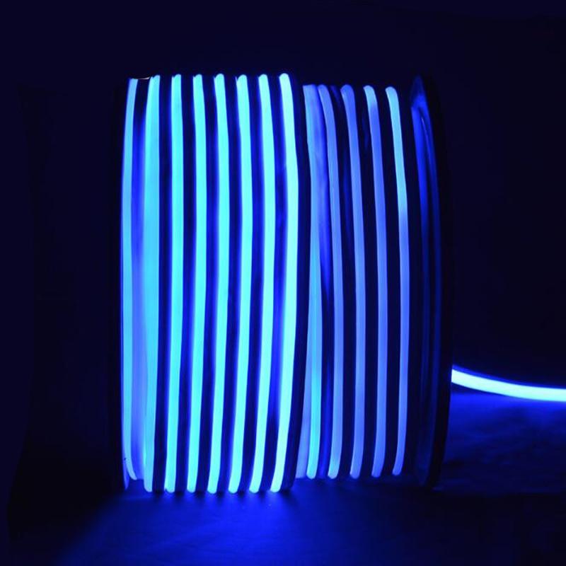 Fanlive супер яркий 50 м светодиодный неоновый свет 110 В 220 В Гибкая лампа красное украшение слоновая кость 80 светодиодный s/M светодиодная лента Водонепроницаемый свет Rgb - 3