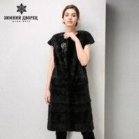 Fashion Leather fur vest Young city white collar fur coats for women Good value mink coat fur Classic coat women WINTER PALACE