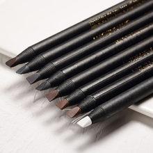 Pincel cosmético da pena do lápis da sobrancelha branca para a sombra natural de longa duração da tatuagem matiz impermeável da sobrancelha do olho conjunto de maquiagem beleza
