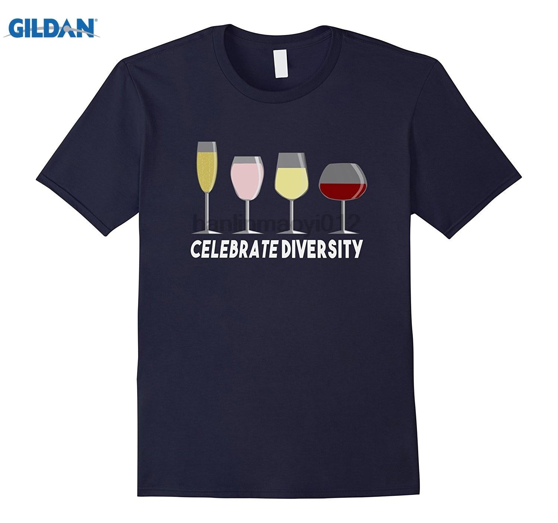 GILDAN Celebrate Diversity Wine Lover T-Shirt dress T-shirt summer dress T-shirt Womens T-shirt